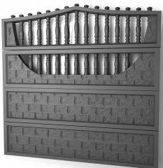 Заборы железобетонные декоративные