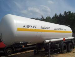 Ammonia transportation tank