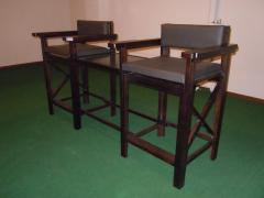 Стулья бильярдные двойные со столиком из