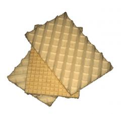 Wafers and wafer semi-finished products for ice