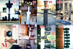 Гранитные вазы, столы