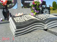 Готовые надгробные памятники из гранита и