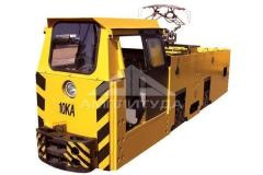 Mine electric locomotives contact and accumulator