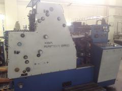 Sheet offset two-colourful machine KBA Rapida SRO.