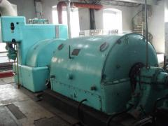 THE OP-2,5-16/3 STEAM TURBINE COMPLETE WITH THE
