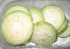 The frozen vegetable marrows