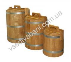 Кадка дубовая на 025 литров, 0,5 литров, 1 литру,