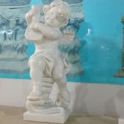 Ангел из белого мрамора Каррара, высота 60 см.