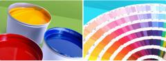 Paints on the basis of solvent printing