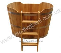 Wooden font for a bath