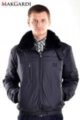 Down-padded coat man's