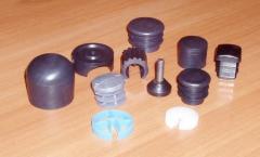 Caps plastic in pipes of various diameter.