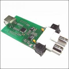 Two-channel USB oscillograph, KIT BM8020 spectrum
