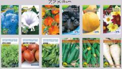 Упаковка разная для семян