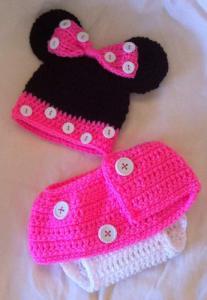 Комплект Мини Маус: шапка, юбка. Детская одежда