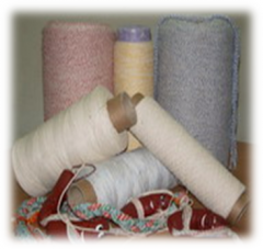 Twine sausage cotton for the manual binding from
