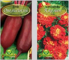 Packings for different seeds in assortmen