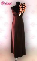 Платье вечернее атласное в пол
