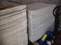 The cardboard is asbestine