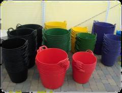Construction rubber buckets