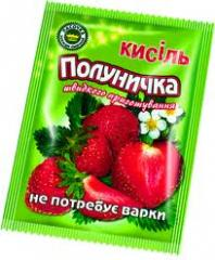 Kissel in packages (strawberry, cherry, pineapple,