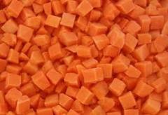 The frozen carrots, the Kherson Region.