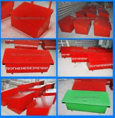Boxes for sand for gas station, Oil depots,