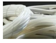 Electro insulating tubes made of PTFE f-4D
