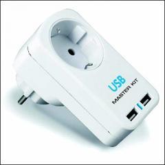 MT4012 220 V + 2 USB T-coupler -