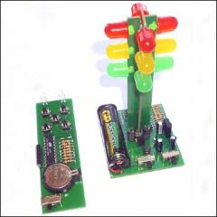 The toy traffic light with the DU NT1500 panel