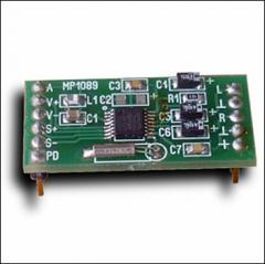 The digital FM radio receiver (the built-in