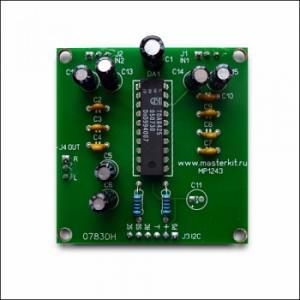 Arduino аудиопроцессор темброблок-коммутатор MP1243A