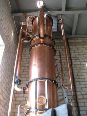 Distillation installation for