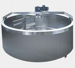 Cheese processing machine, open type. Cars and