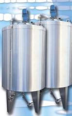 The tank for milk (the milk tank).