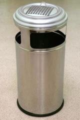 """Урна для мусора """"Барселона"""" нержавеющая, 45 литров (мусорная урна)"""