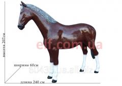 Horse a figure from a polistoun full-scale