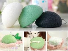 Konjac sponges to konnyak for washing, soft
