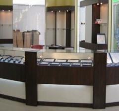 Мебель торговая для ювелирных, сувенирных изделий,