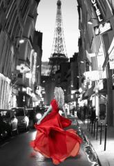 Трехмерное панно Дама в красном