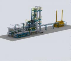 Modular complex of processing of hydrocarbonic raw