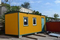 Change houses, construction cars in Sevastopol,