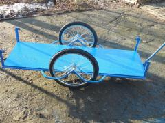 Грузовая тележка, вело прицеп  с удлиненным