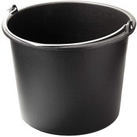 Plastic bucket of 10 l without cover