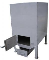 Плита-Котел на твердом топливе - дрова, уголь для