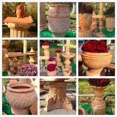 Terracottas. Shamotny ceramics. Architectural