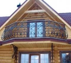 Handrail is balcony shod