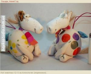 Handiwork from ceramics - figures of Horses by new