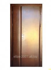 Metal doors in the front door, staircase