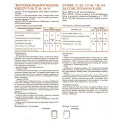 Penogasyashchy polidimetilsiloksanovy liquids